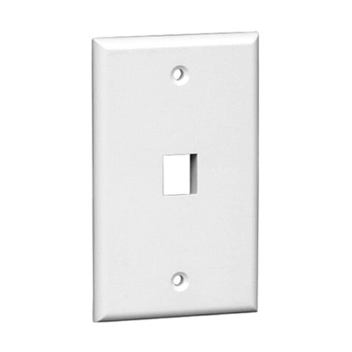 Keystone Wall Plate | 1 Hole, 1-Gang, White - Conversions Technology