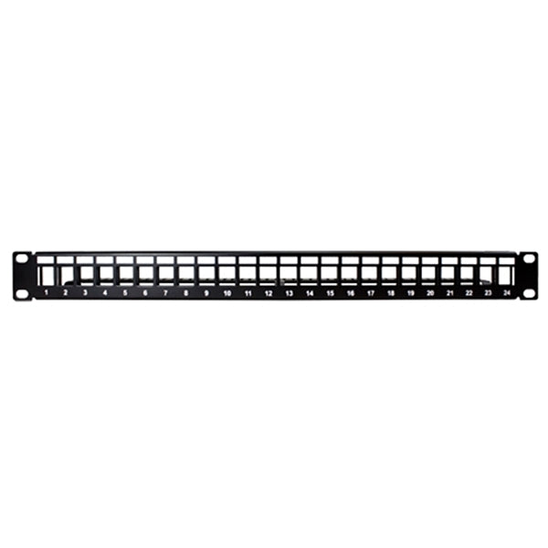 Patch Panel | Unloaded, Module, Cat5e/6/7/8, 24-Port - Conversions Technology