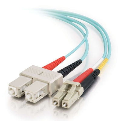 Fiber Optic Cable, LC - SC Duplex 10 Gig 50/125 Multimode, 3M - Conversions Technology