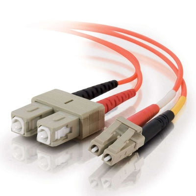 Fiber Optic Cable, LC - SC Duplex 50/125 Multimode, 1M - Conversions Technology