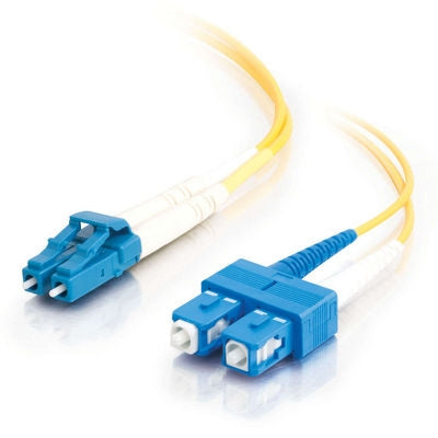 Fiber Optic Cable, LC - SC Duplex 9/125 Singlemode, 1M - Conversions Technology