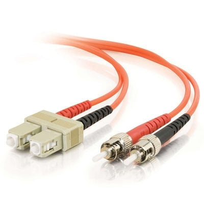 Fiber Optic Cable, SC - SC Duplex 62.5/125 Multimode, w/Clips 3mm, 10M - Conversions Technology