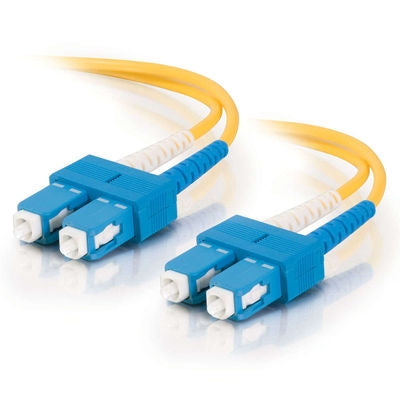 Fiber Optic Cable,  SC - SC  Duplex  9/125  Singlemode,   w/Clips   3mm,  10M - Conversions Technology