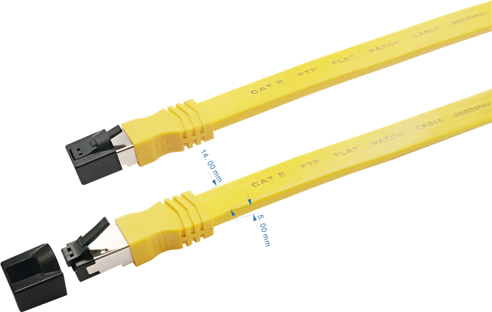 Sigma Wire & Cable | Patch Cord | Cat8, S/FTP Stranded Bare Copper, Flat 9ft - Conversions Technology