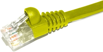 Patch Cord  |  Cat6,  Snagless,  Yellow  1ft - Conversions Technology