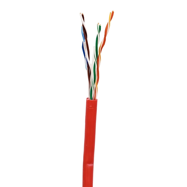 Sigma Wire & Cable | Cat6 CMP 1000ft, Box | RED | Solid Bare Copper | Plenum | 23 Awg UTP Ethernet Cable - Conversions Technology