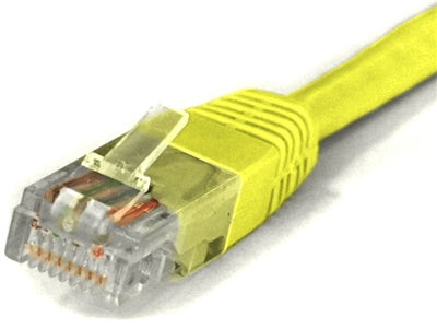 Sigma Wire & Cable | Patch Cord | Cat5e, Yellow 1ft - Conversions Technology