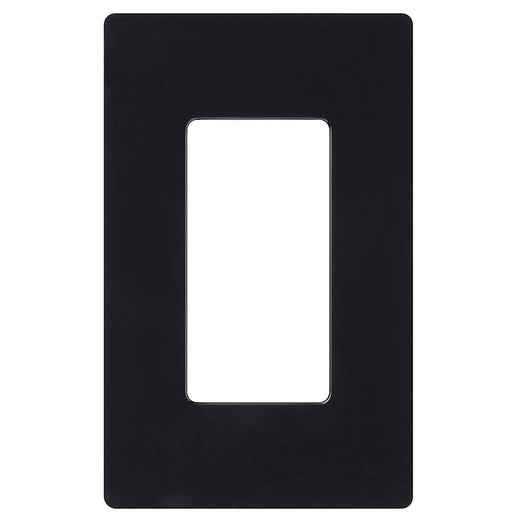 Screw less Face | Decorator Wall Plate | 1 Gang | Black - Conversions Technology