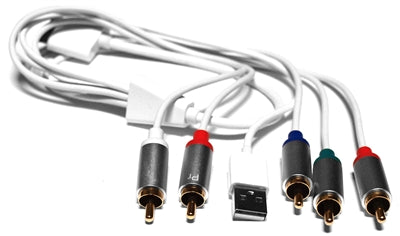 Omicron® | Specialty Cables | Apple Dock Connector to Component AV Cable with USB - Conversions Technology