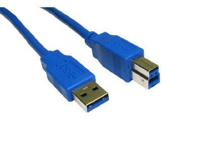 USB 3.0,  28AWG, Gold Plated,  Blue  10ft - Conversions Technology