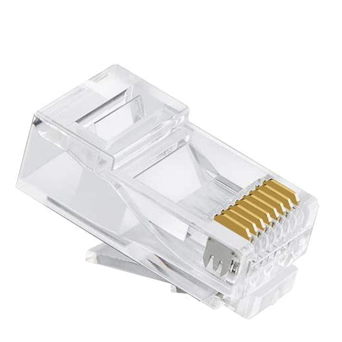 RJ45 Connector | Cat6 Feed through Modular Plug Unshielded 50 pcs - Conversions Technology