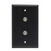 Wall Plate | F81 Coax | Dual Port, Black - Conversions Technology