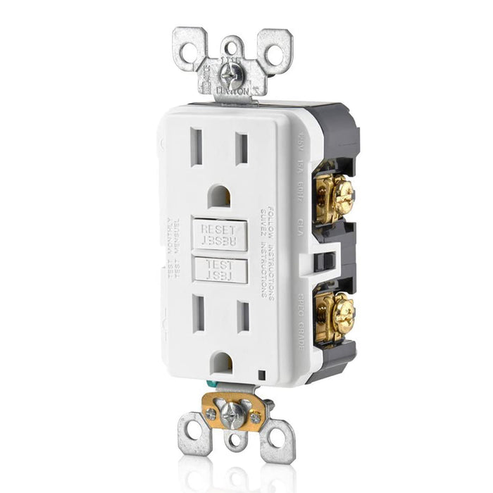 AC Outlet | 15 Amp GFCI Decorator Residential-Commercial (White) - Conversions Technology