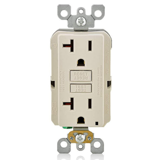 AC Outlet | 20 Amp GFCI Decorator Residential-Commercial (Almond) - Conversions Technology