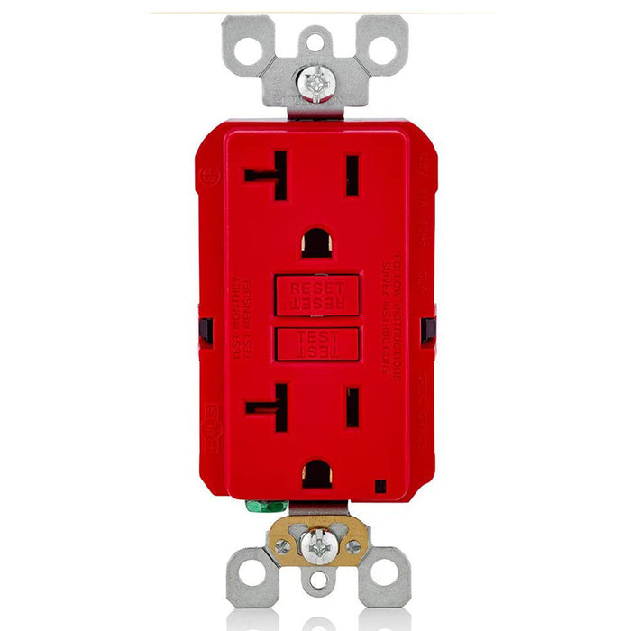 AC Outlet | 20 Amp GFCI Decorator Residential-Commercial (Red) - Conversions Technology