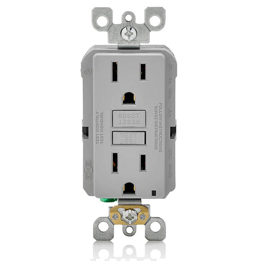 AC Outlet | 15 Amp GFCI Decorator Residential-Commercial (Gray) - Conversions Technology