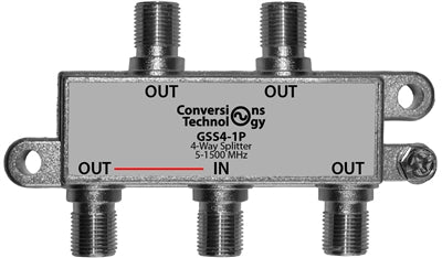 Splitter | 1000 MHz 4-way Digital Cable Splitter - Conversions Technology