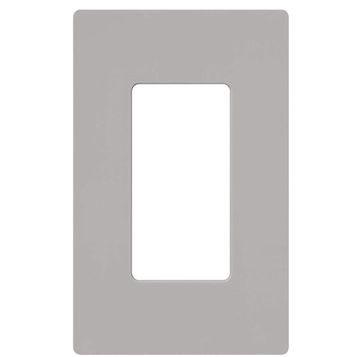 Screw less Face | Decorator Wall Plate | 1 Gang | Gray - Conversions Technology