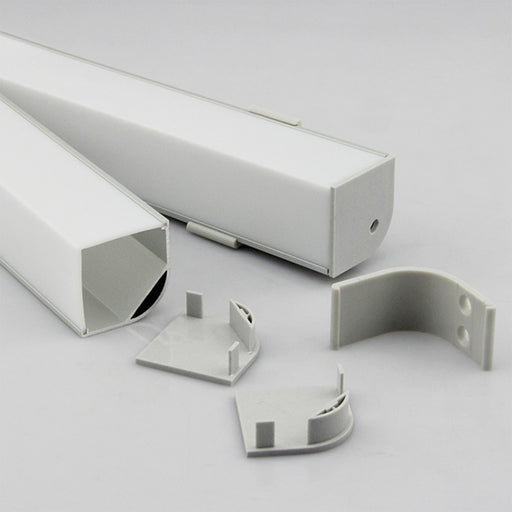 Fuse® LED | LED Profile, Corner Series | Diffuser & Housing for LED Double-Line Ribbon Light Strips - Conversions Technology