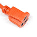 Extension Cord | 100 ft 3-wire extension cord 16/3 orange indoor outdoor - Conversions Technology