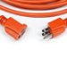 Extension Cord | 50 ft 3-wire extension cord 14/3 orange indoor outdoor - Conversions Technology