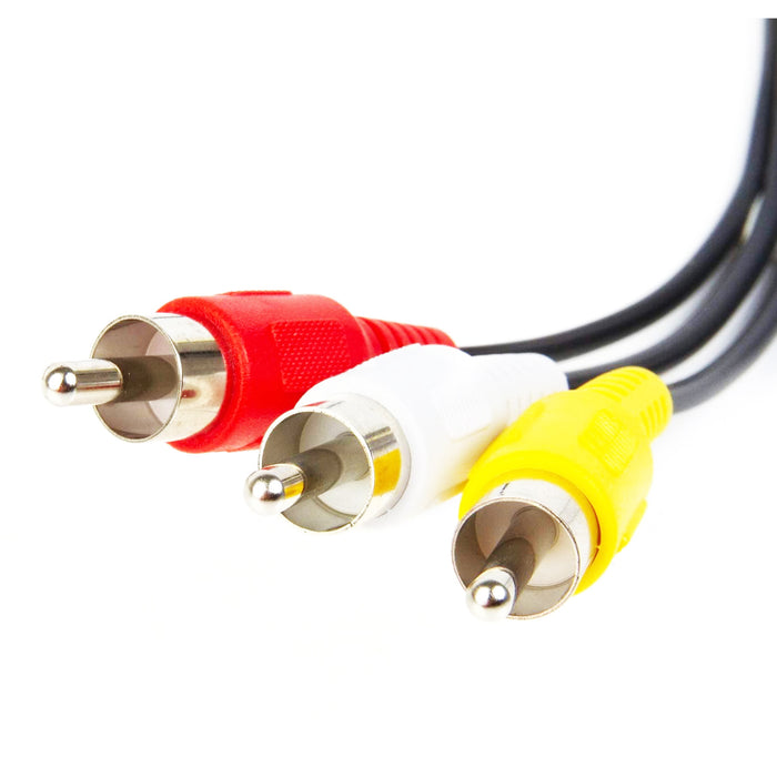 Audio Video Cables | RCA Composite Cable Yellow/White/red | 25ft - Conversions Technology