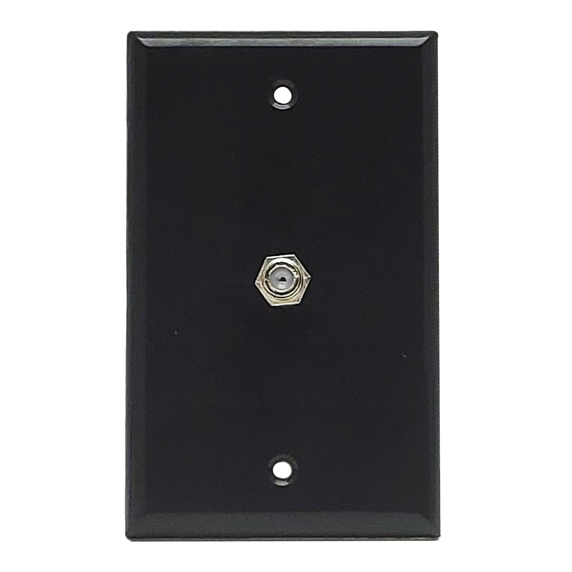 Wall Plate | F81 Coax | Single Port, Black - Conversions Technology