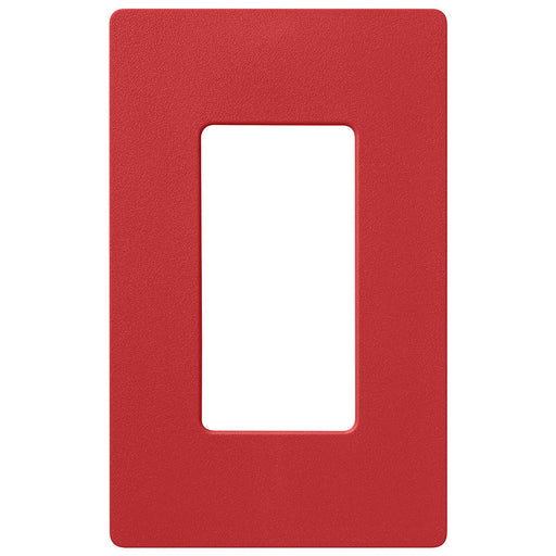 Screw less Face | Decorator Wall Plate | 1 Gang | Red - Conversions Technology