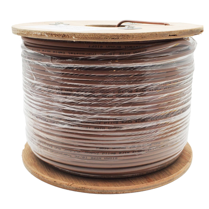 Sigma Wire & Cable  |  Bulk,  Thermostat  20/2  CMR;  20AWG,  2C,  Unshielded,  500ft  Reel   (Brown) - Conversions Technology
