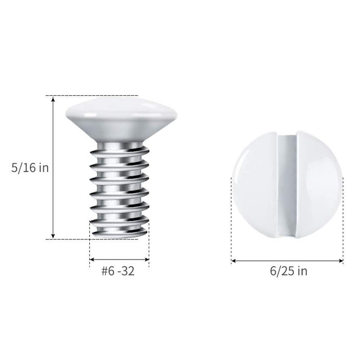 "Wallplate Screws | 100 QTY | White Wall Plate Mounting Screws | 5/16"" - Conversions Technology"