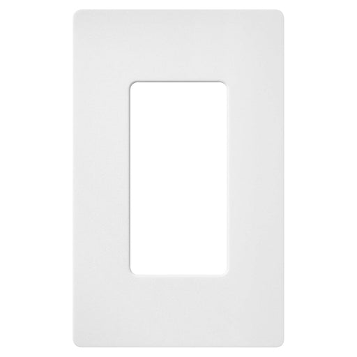 Screw less Face | Decorator Wall Plate | 1 Gang | White - Conversions Technology