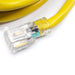 Extension Cord | 50 ft SJTW 14/3 Extension Cord with Lighted Ends Yellow - Conversions Technology