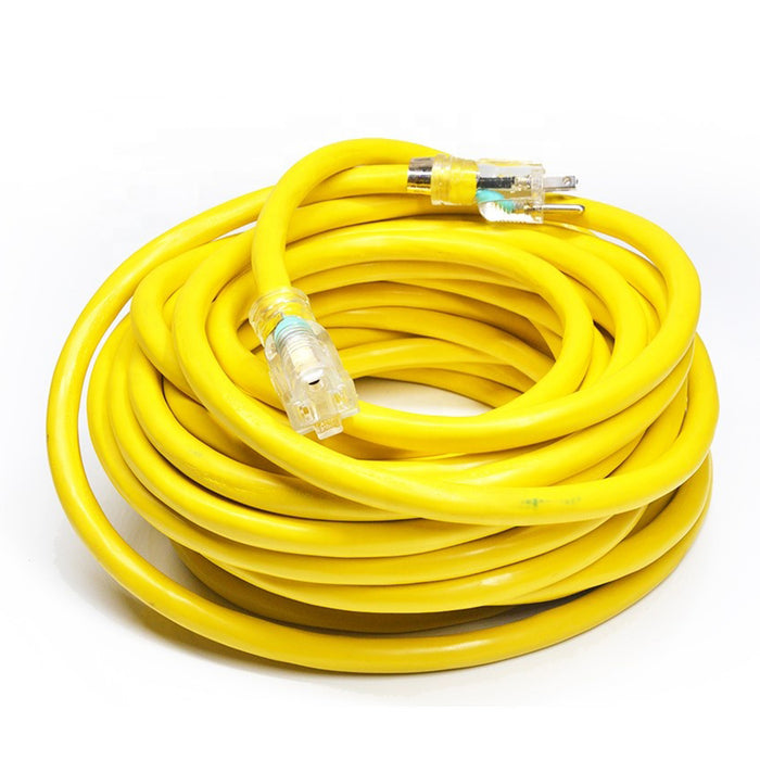 Extension Cord | 25 ft SJTW 16/3 Extension Cord with Lighted Ends Yellow - Conversions Technology