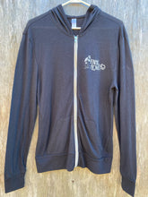 Load image into Gallery viewer, Black Eco-Jersey Full Zip Hoodie