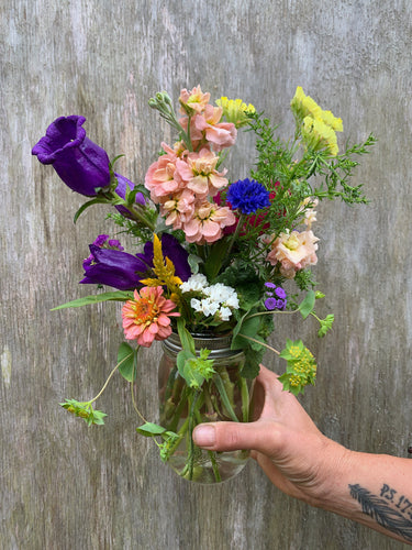 Juneflower jars - for delivery Saturday June 6.