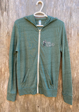 Load image into Gallery viewer, Green Eco-Jersey Full Zip Hoodie