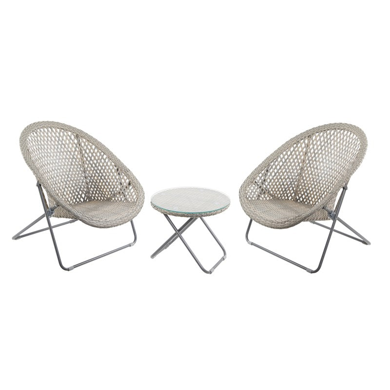 Foldable Rattan Lounger Chairs