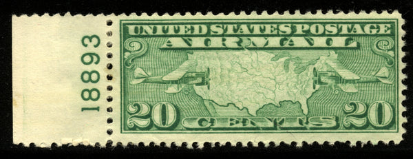 US Scott C9 Airmail Plate Number Single Lower 18893 Mint NH
