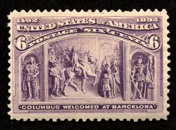 US Scott 235 Columbian issue Mint Lightly Hinged