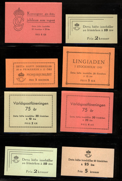 Sweden 8 Booklets from 1947-51