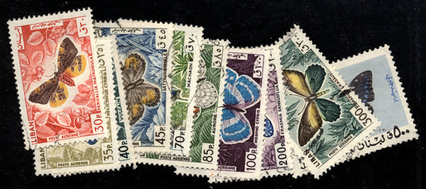 Lebanon Liban Scott C427-36 Used Set Butterflies