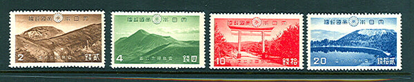Japan Scott 223-226 National Parks  Mint lightly Hinged