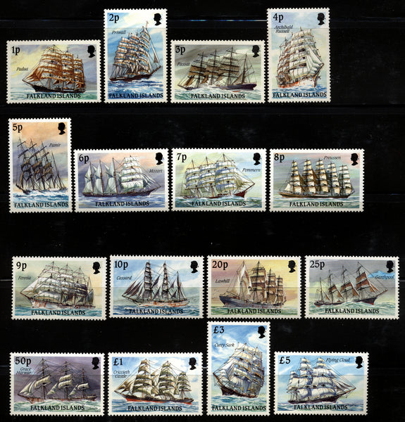 Falkland Islands Scott 485-500 Ships Mint NH set
