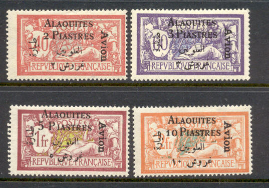 Alaouites Syria Syrie Scott C1-4 Mounted Mint Airmail Set