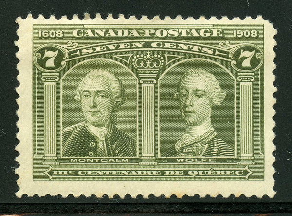 Canada Scott 100 General Montcalm and Wolfe Mint HR $150.00
