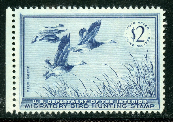 US SCOTT RW22 Blue Geese Duck stamp OG Mint Never Hinged $85.00