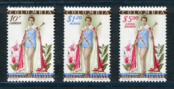 Colombia Scott 697,C317-C318 Miss Universe Mint Never Hinged $50.00