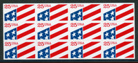 US 2475 Pane of 12 Flags