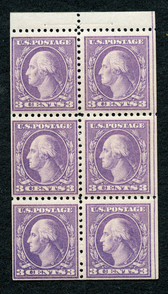 US Scott 502b Washington Booklet Pane Mint Never Hinged