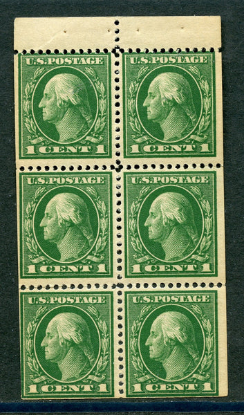 US 405b VF NH Slight Perf. Separation Booklet Pane